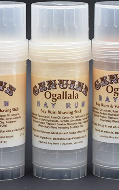 Genuine Ogallala Bay Rum Shaving Stick