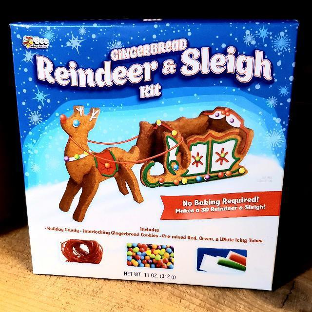 Gingerbread Reindeer and Sleigh Decorating Kit