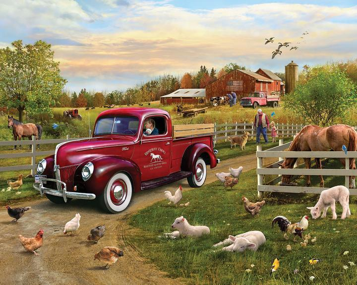 Grandpa's Pride and Joy 1000 Piece Jigsaw Puzzle by White Mountain Puzzle