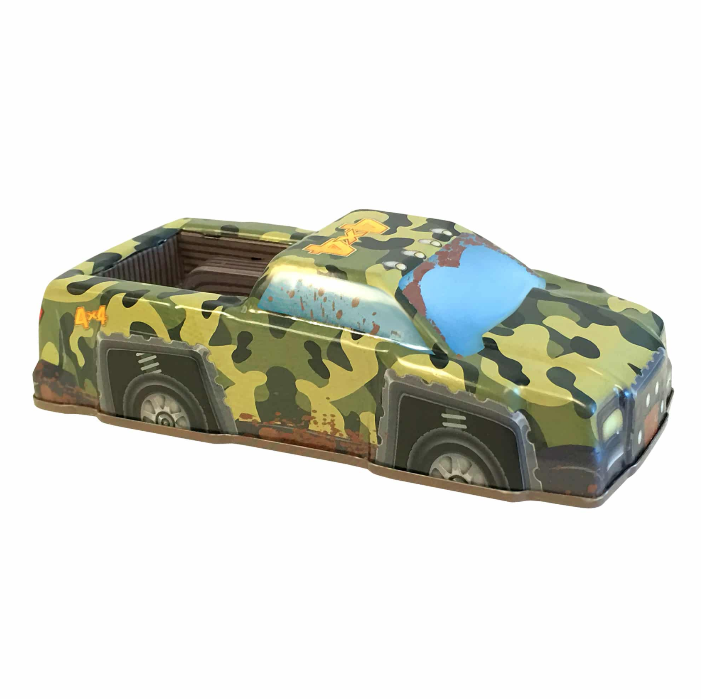 Rev-Up Racers Tin Trucks Green Camo