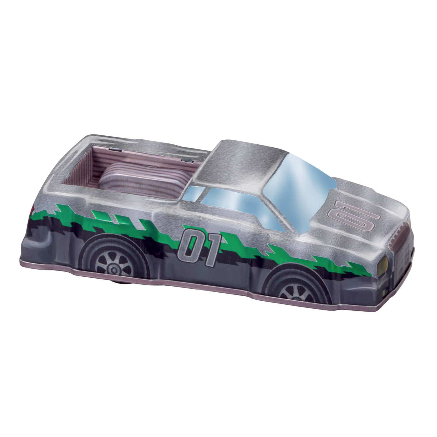 Rev-Up Racers Tin Trucks Green & Silver 1