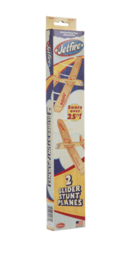 Guillow Jetfire Balsa Glider Plane Twin Pack