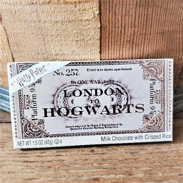Harry Potter™ Platform 9 3/4 Ticket to Hogwarts Chocolate Candy Bar