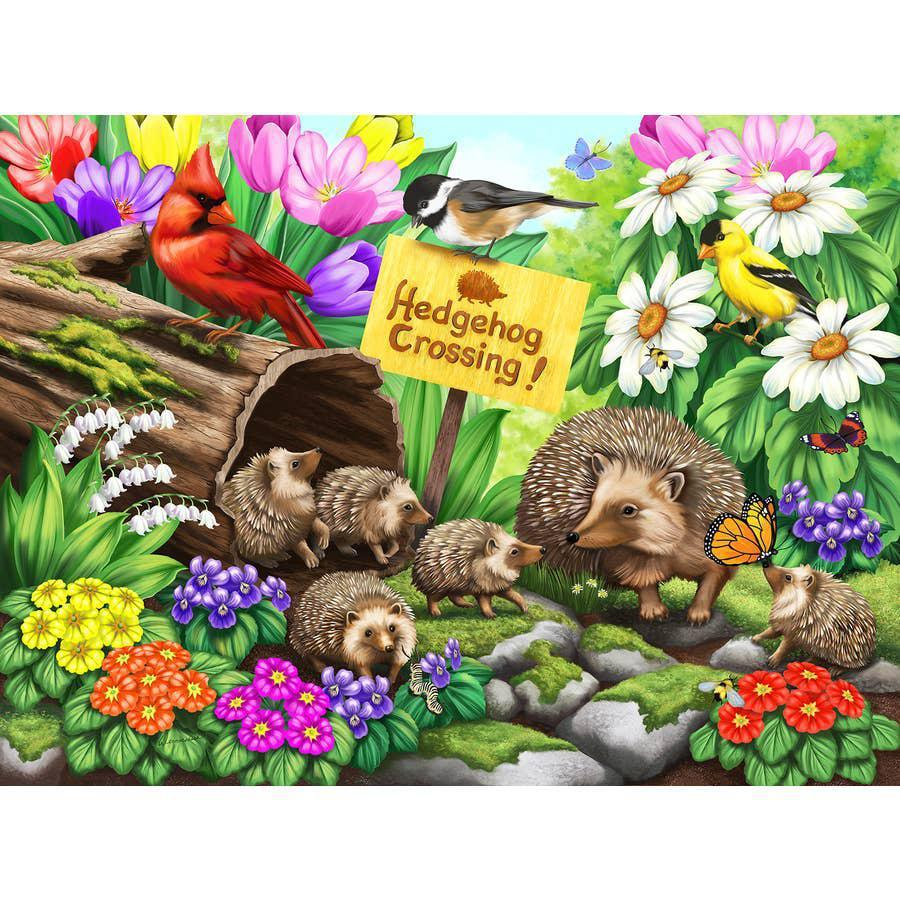 Hedgehog Crossing 1000 Piece Puzzle