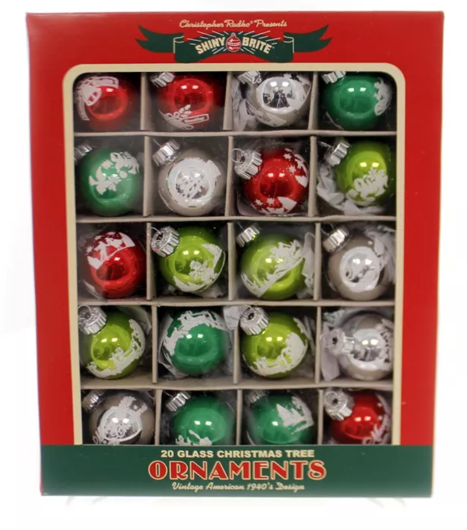 "Holiday Splendor 1.25"" 20 Count Decorated Rounds by  Shiny Brite"