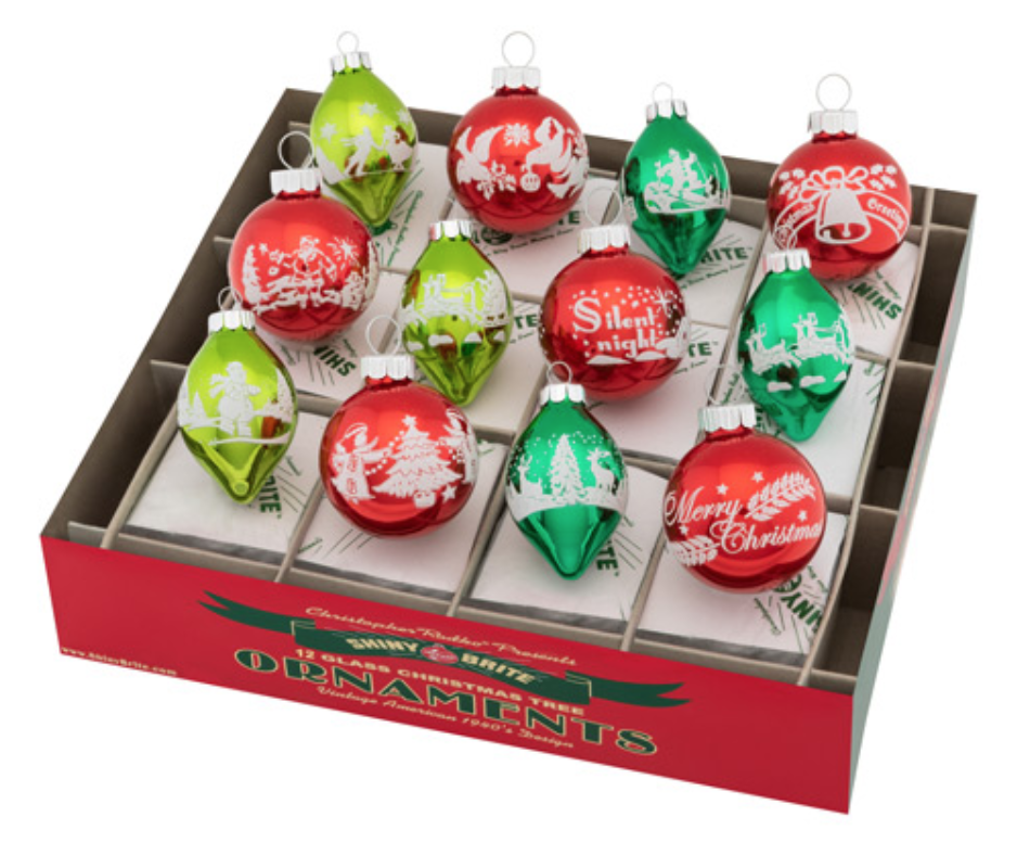"Holiday Splendor 1.75"" Tulips & Rounds by  Shiny Brite"
