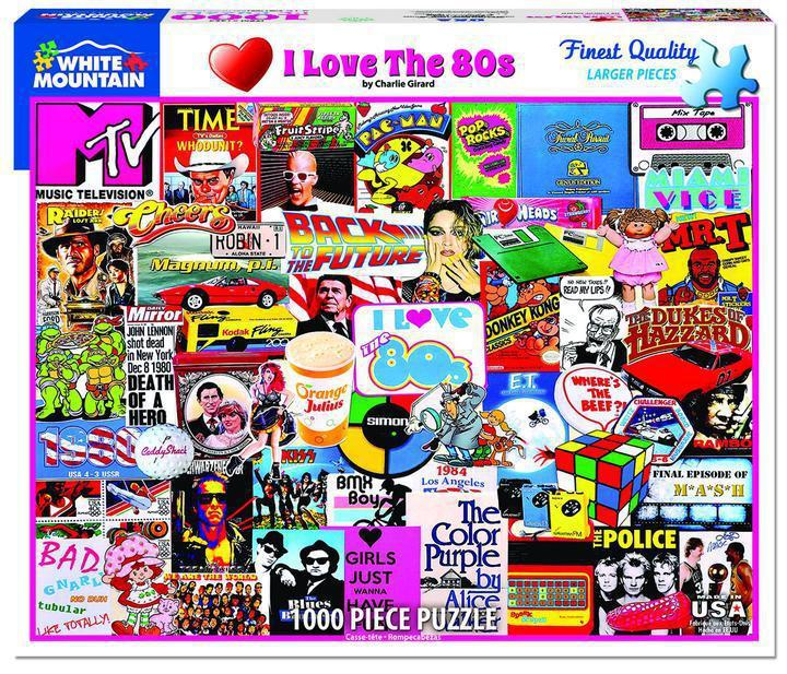 I Love the 80s 1000 Piece Jigsaw Puzzle by White Mountain Puzzles