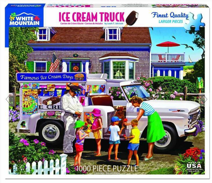 Ice Cream Truck 1000 Piece Jigsaw Puzzle by White Mountain Puzzle