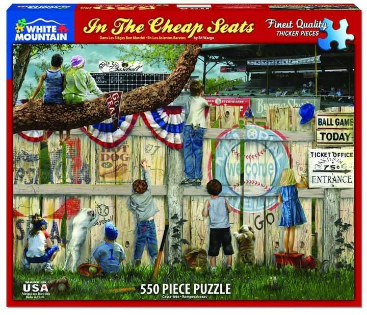 In the Cheap Seats 550 Piece Jigsaw Puzzle by White Mountain Puzzle