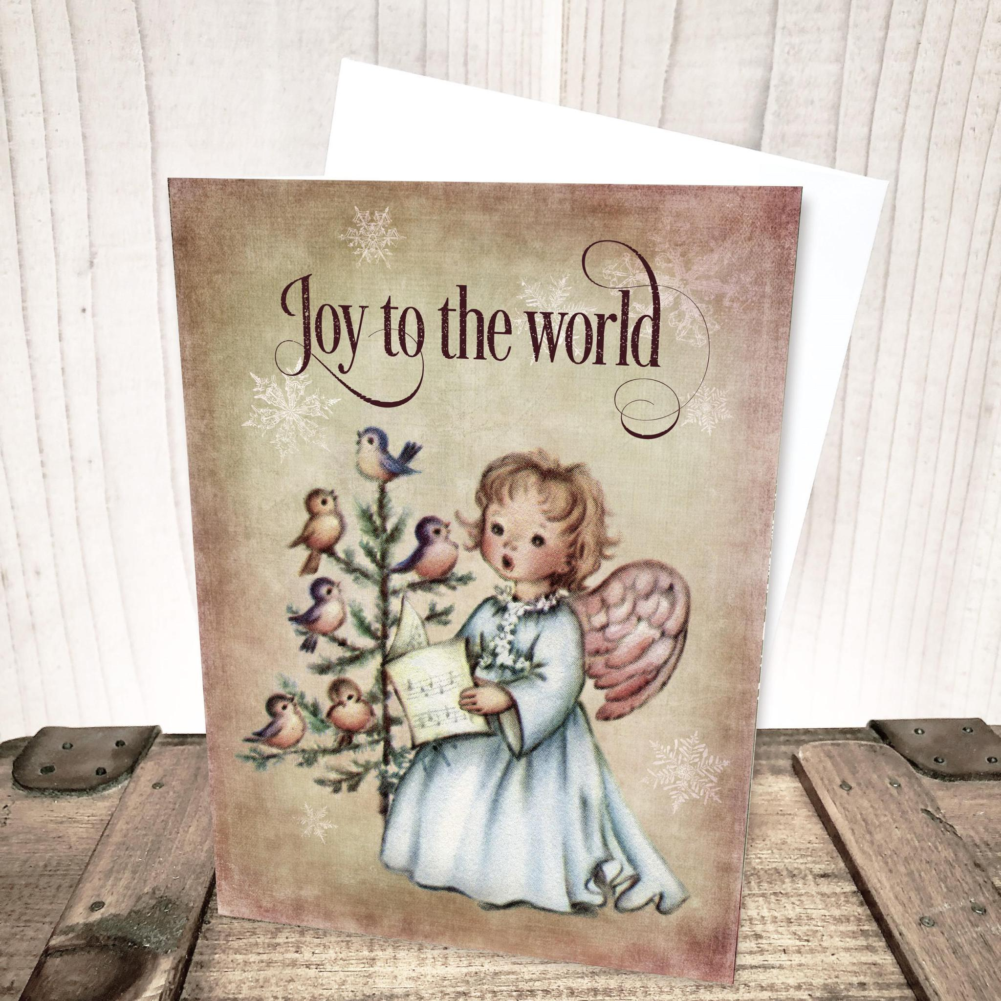Joy to the World Angel Christmas Card by Yesterday's Best