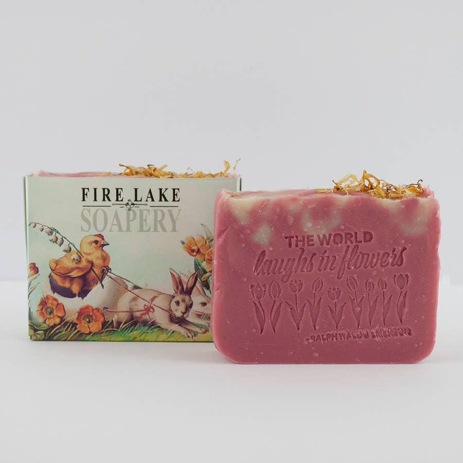Laughing in Flowers Grapefruit Soap Bar