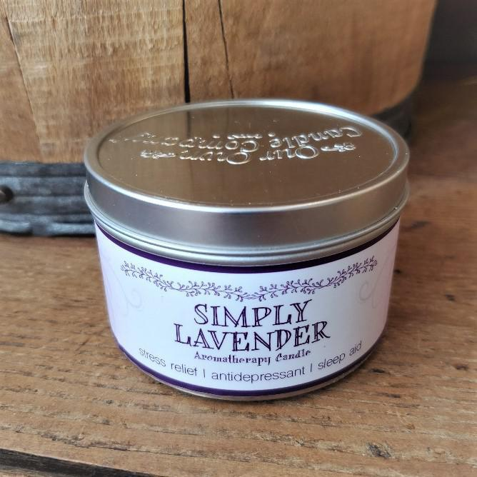 Aromatherapy Tin Soy Candles Lavender