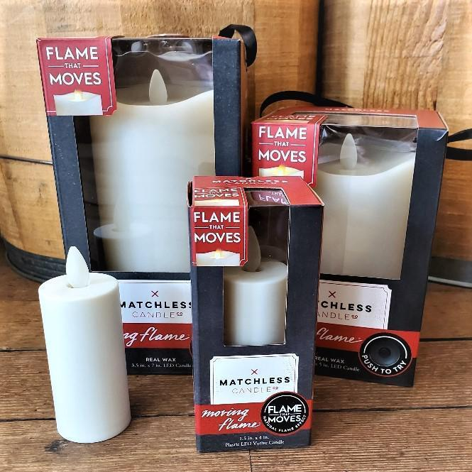 LED Matchless Candle w/ Moving Flame