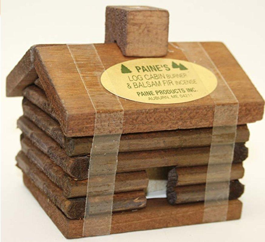 Balsam Fir Incense with holder by Paine's Log Cabin Burner w/ 10 Incense