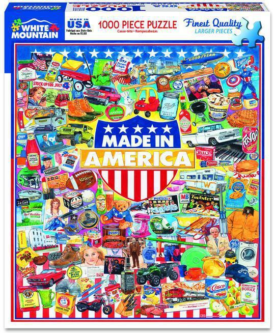 Made in America 1000 Piece Jigsaw Puzzle by White Mountain Puzzles