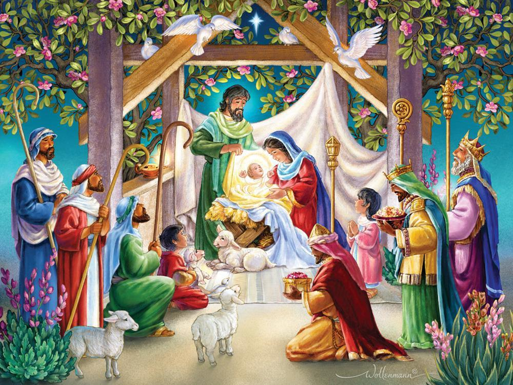 Magi at the Manger 550 Piece Puzzle