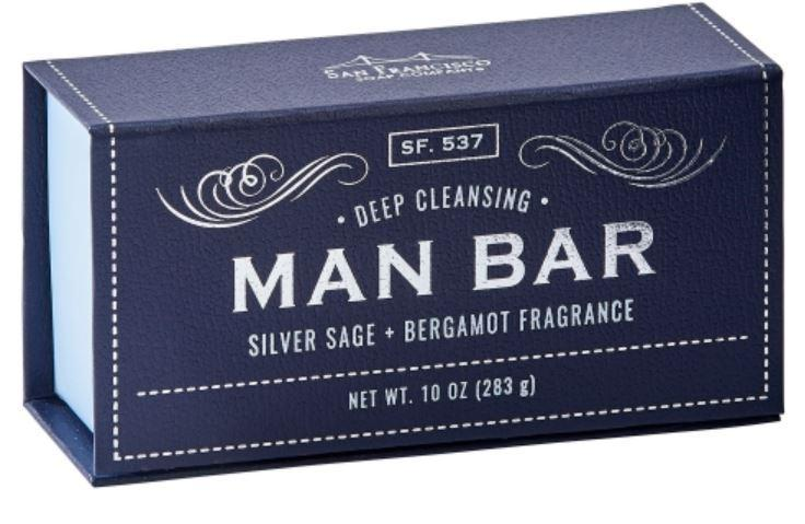 Man Bar Exfoliating Silver Sage & Bergamot Soap