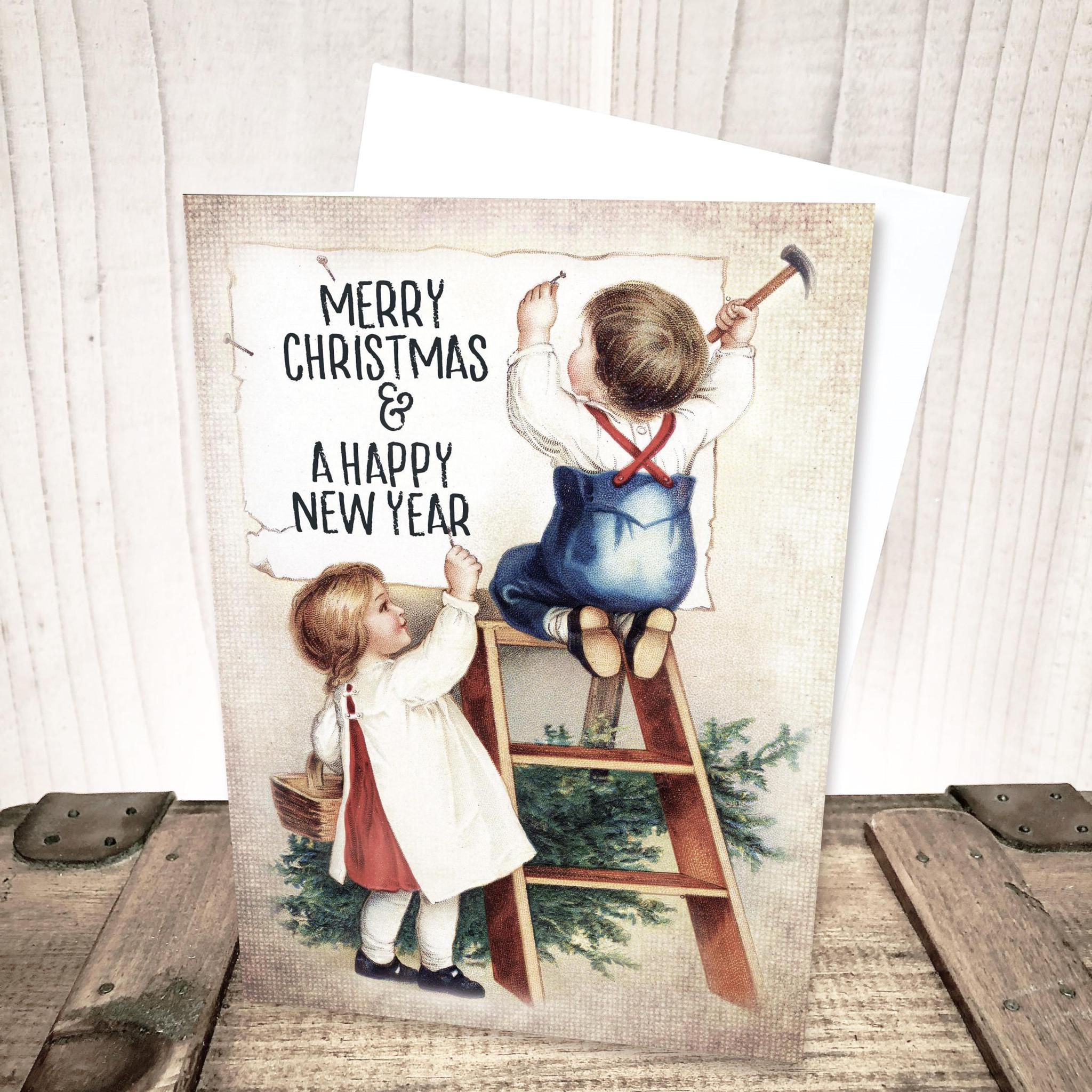 Merry Christmas ans a Happy New Year Christmas Card by Yesterday's Best