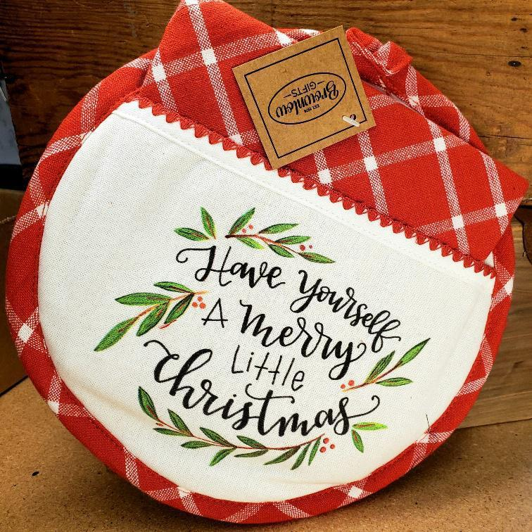 Christmas Hot Pad & Towel Set Merry Little Christmas