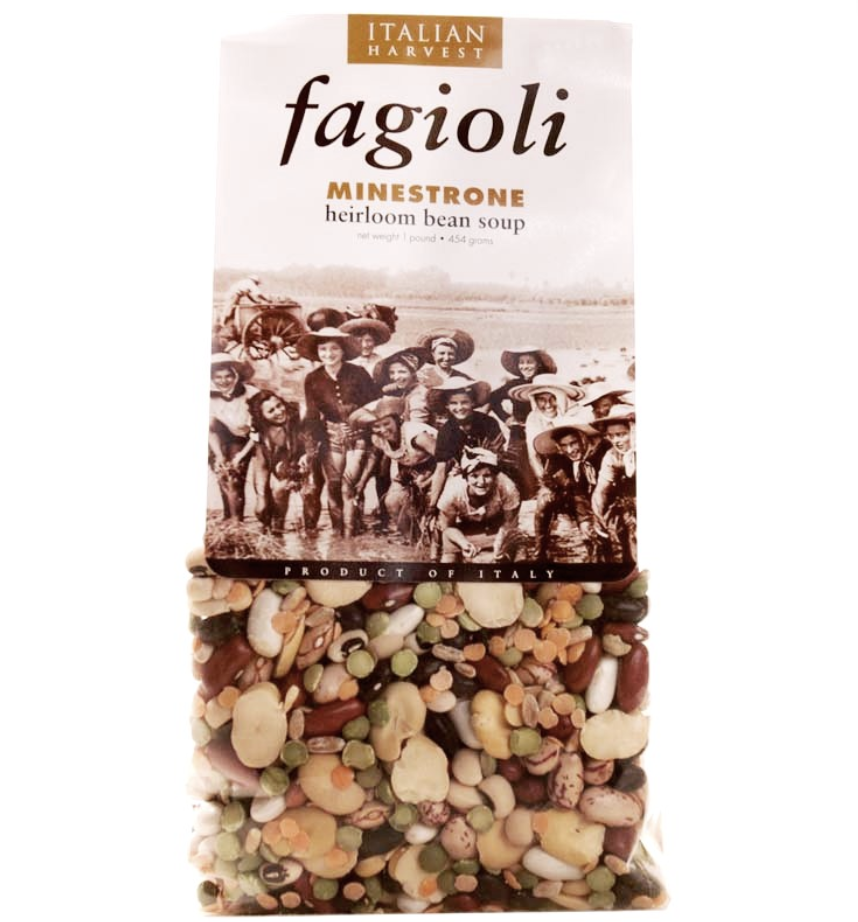 Minestrone Heirloom Bean Soup Mix with Farro by Italian Harvest