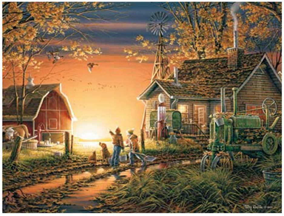 Morning Suprise 1000 Piece Jigsaw Puzzle by White Mountain Puzzle