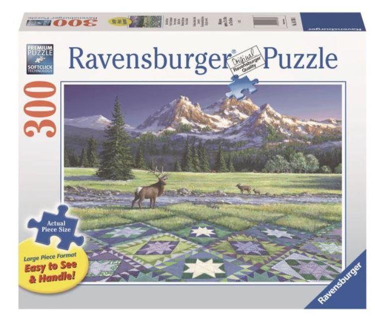 Mountain Quiltscape 300 Piece Large Pieces Puzzle