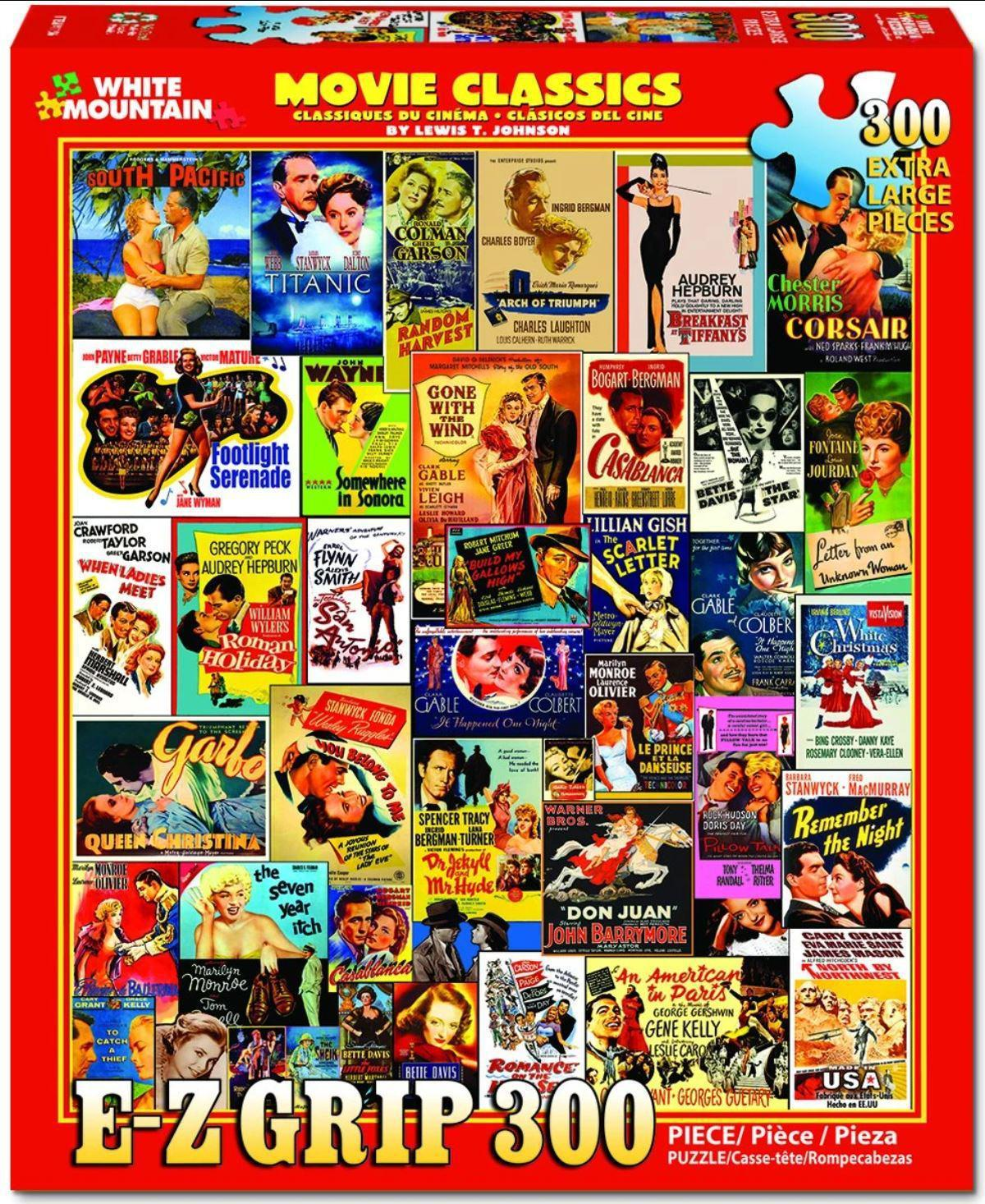 Movie Classics 300 Piece EZ_HOLD Jigsaw Puzzle by White Mountain Puzzle