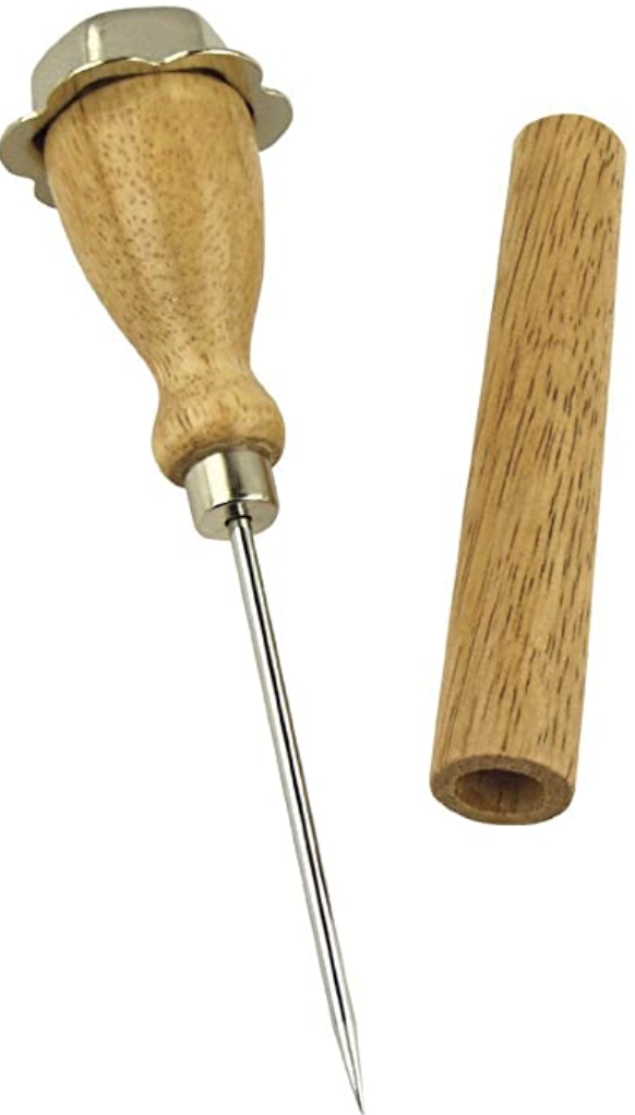 Norpro Stainless Steel Ice Pick With Wood Sheath Cover by Norpro