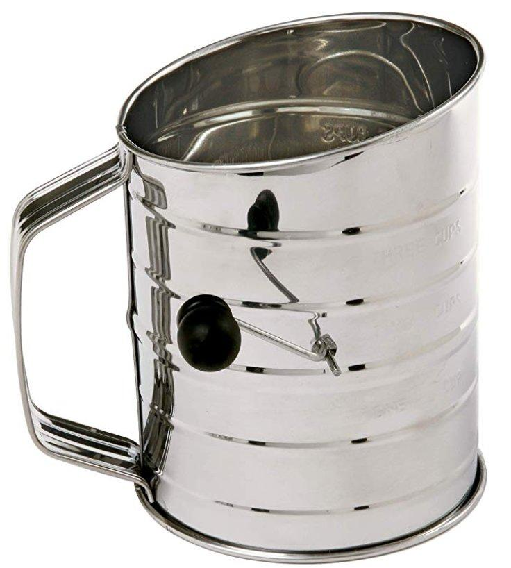 Norpro Stainless Steel Rotary Sifter 3 Cups