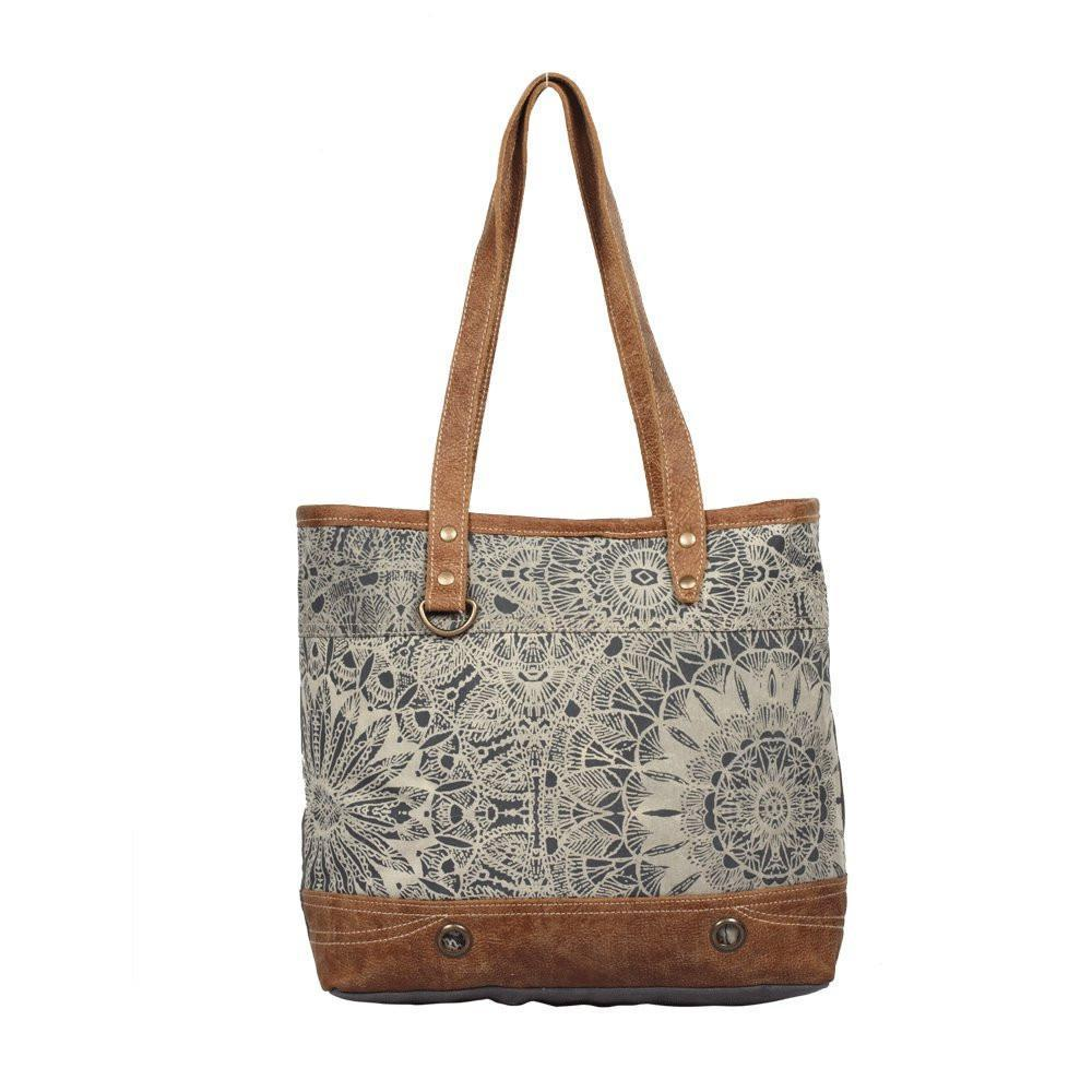 Objet d'art Leather Strip Tote Bag