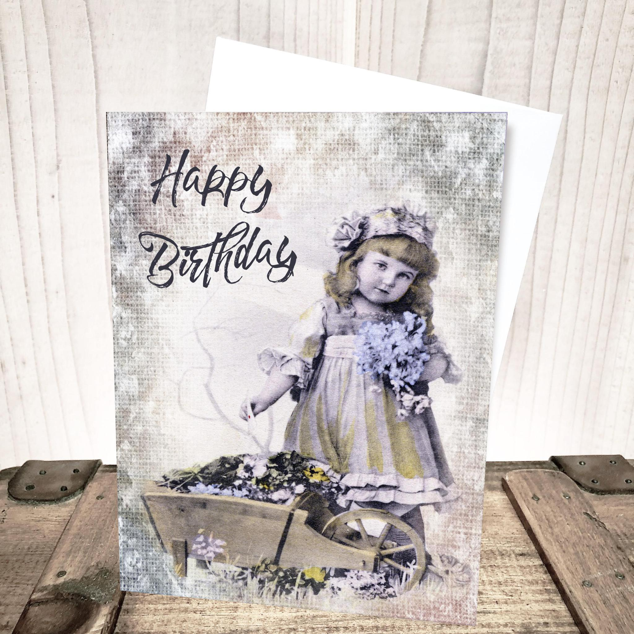 Old Fashioned Girl Birthday Card by Yesterday's Best