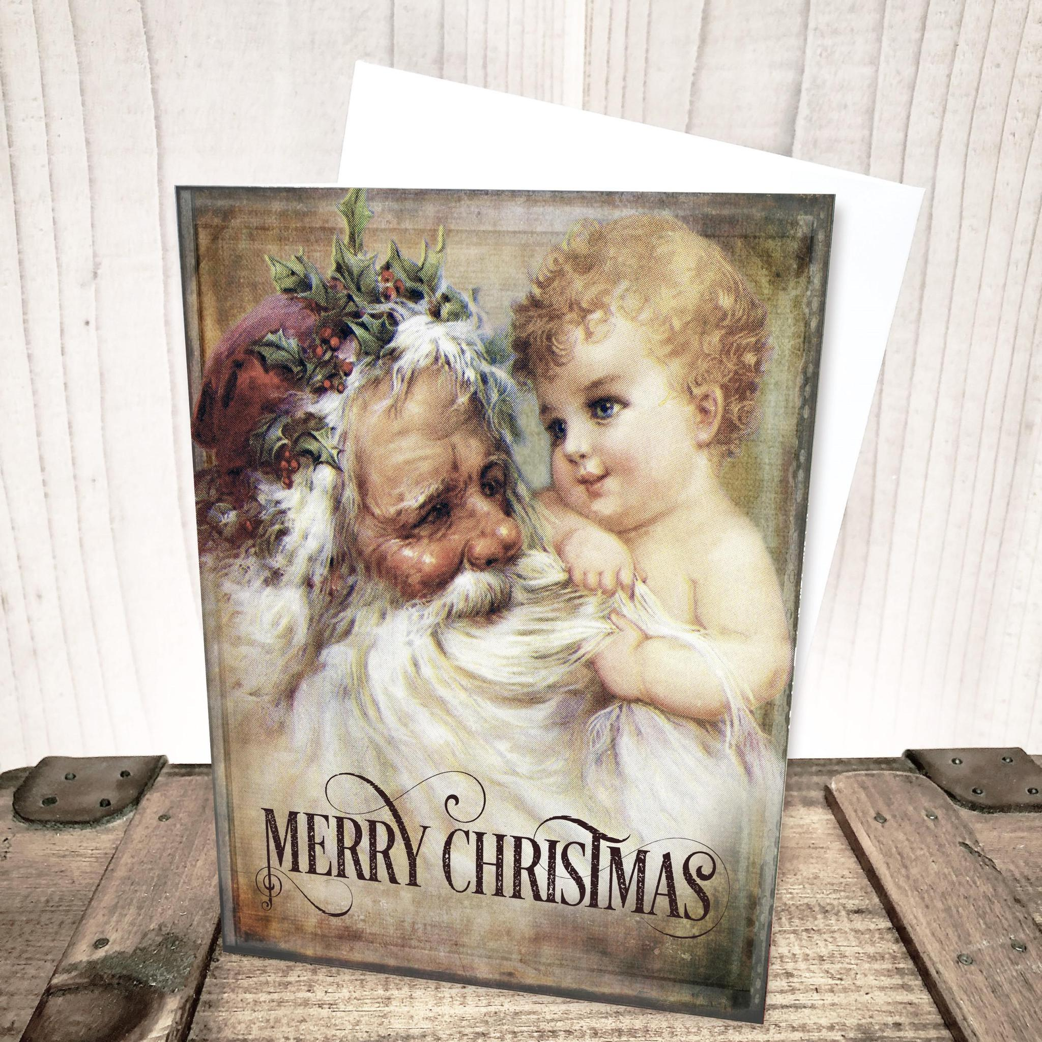 Old World Santa Christmas Card by Yesterday's Best