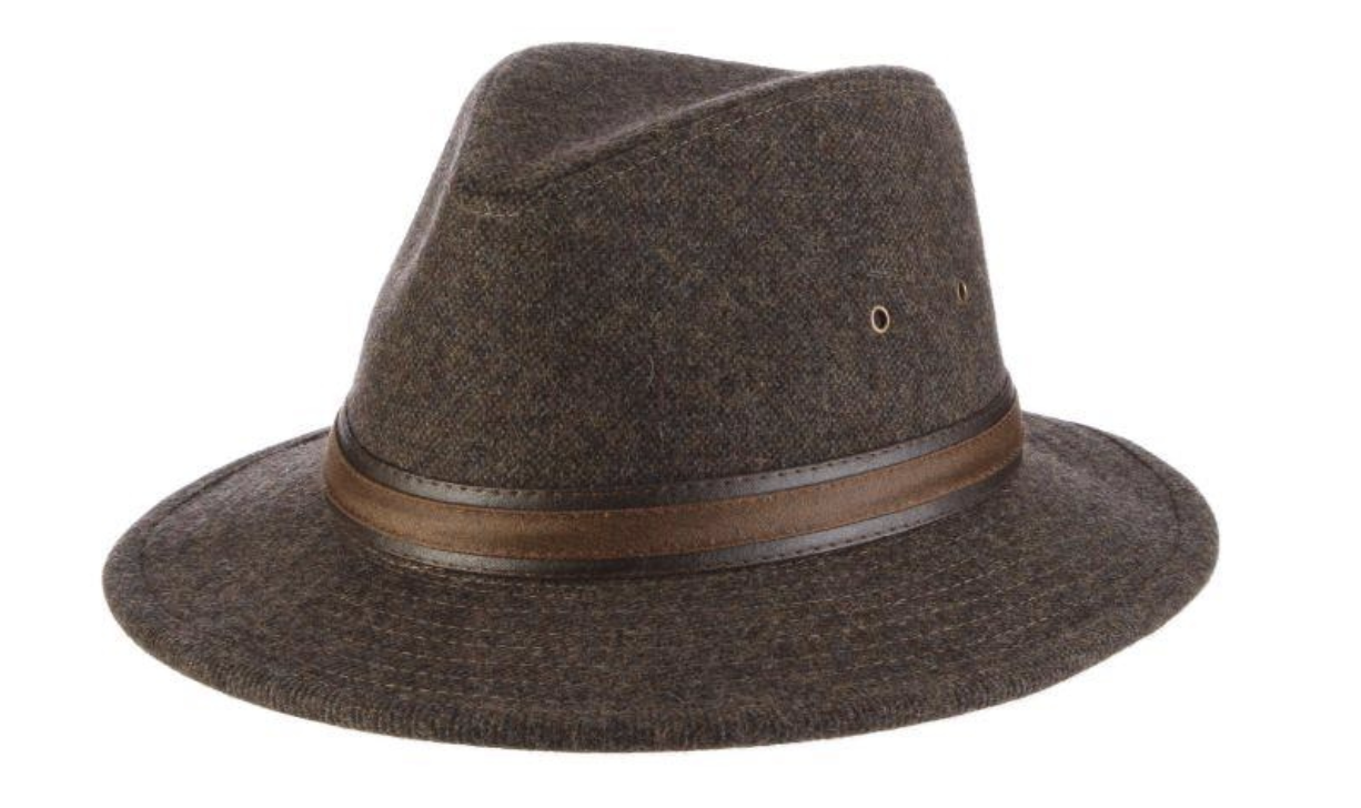 "Hoagy Wool Blend Safari with 2 1/2"" Brim Olive Large"