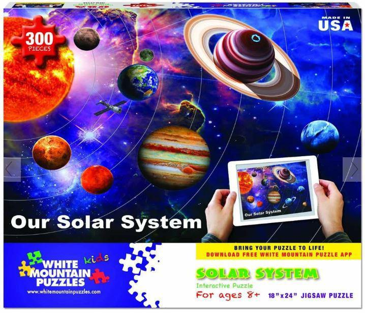 Our Solar System 300 Piece Jigsaw Puzzle by White Mountain Puzzle