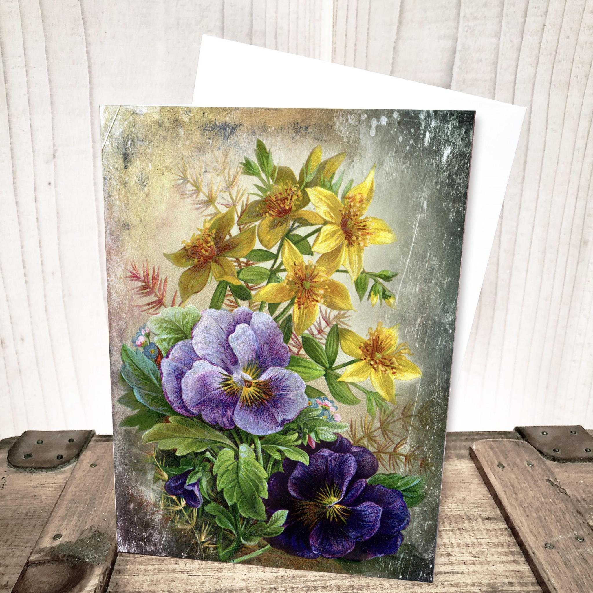 Pansy Floral Everyday Card by Yesterday's Best
