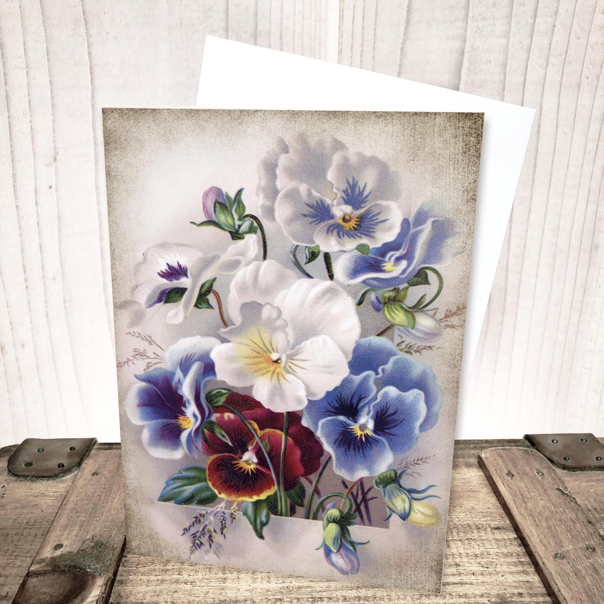 Pansy Flower Everyday Card by Yesterday's Best