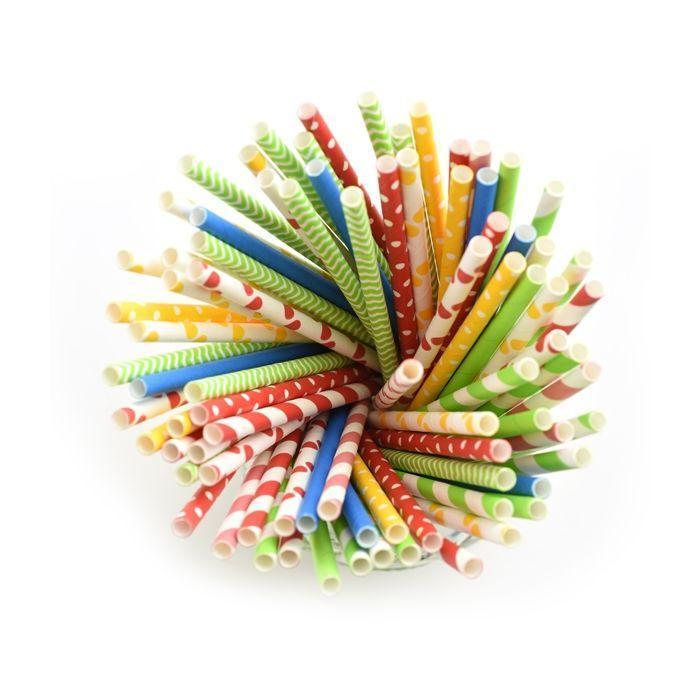 Paper Party Straws Polka Dots