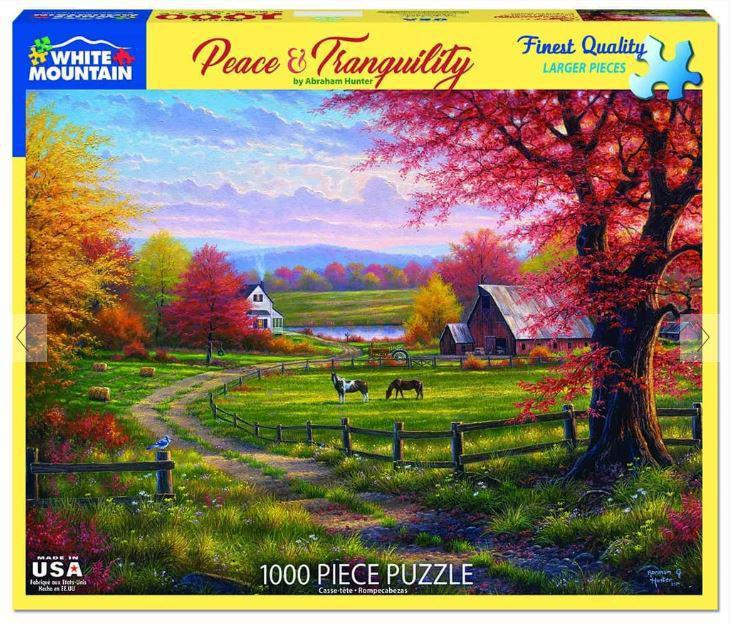 Peace and Tranquility 1000 Piece Jigsaw Puzzle by White Mountain Puzzle