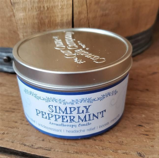 Aromatherapy Tin Soy Candles Peppermint