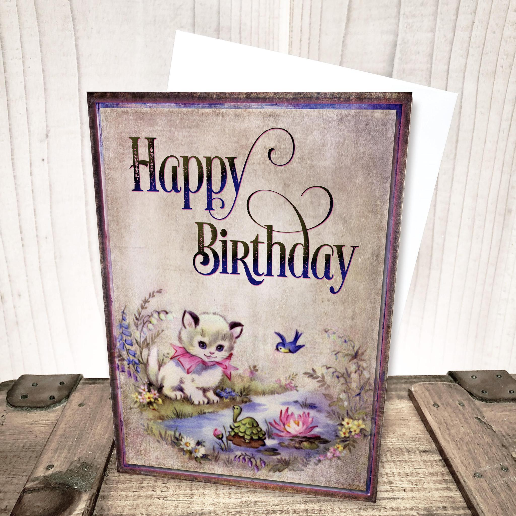 Playful Kitten Birthday Card by Yesterday's Best