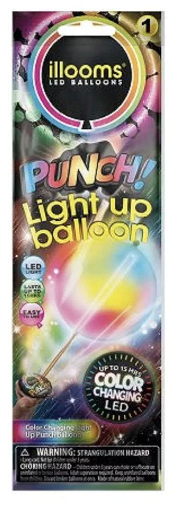 illooms LED Light Up Party Balloons: Marble, Punch & Mixed Colors! Punch (1)