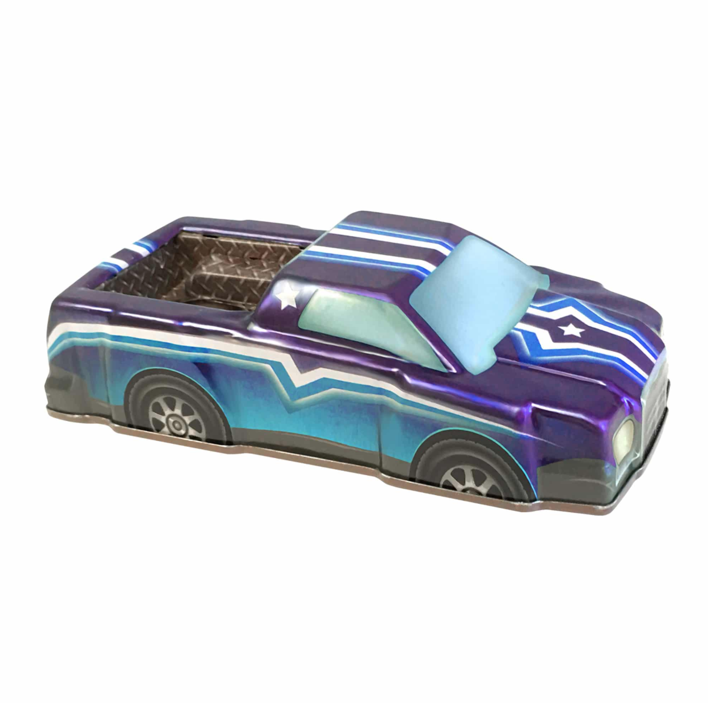 Rev-Up Racers Tin Trucks Purple & Blue Star