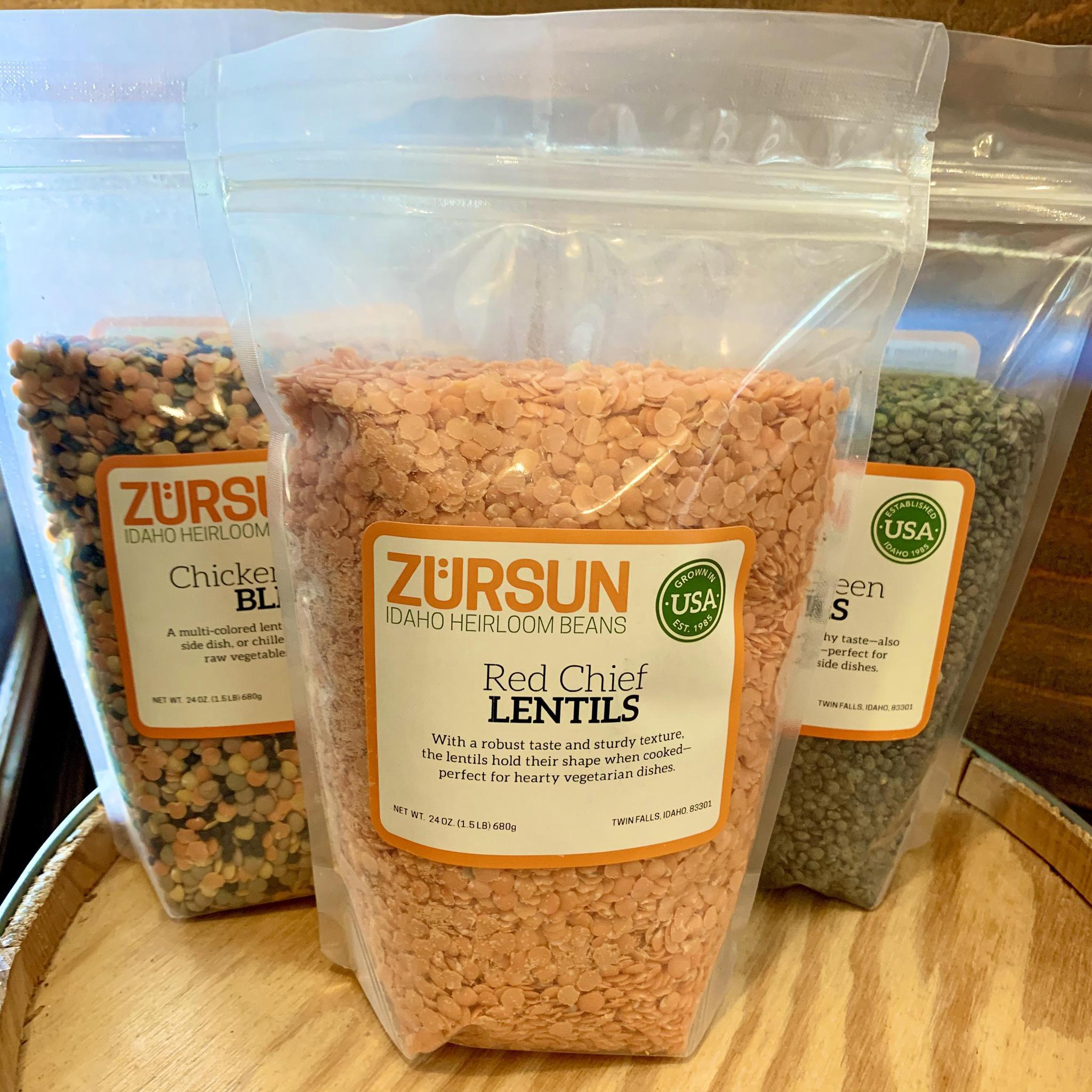 Lentil Blends by Zürsun Idaho Heirloom Beans Red Chief