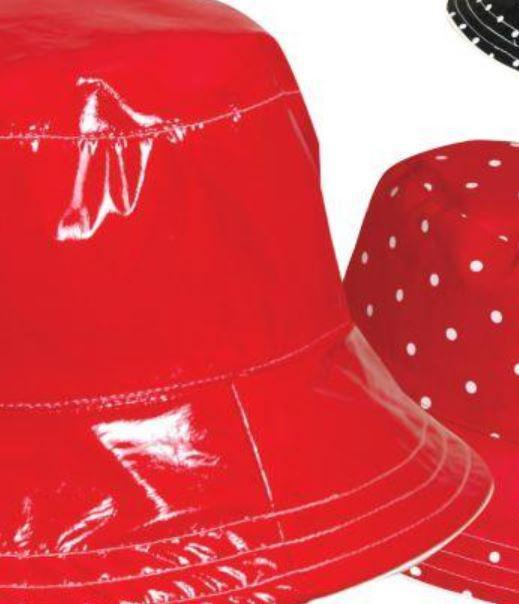 Reversible Women's Rain Hat Red