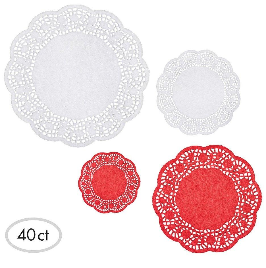 Red & White Round Dolly 40ct