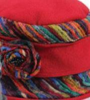 Women's Mulit Color Bucket Hat Red