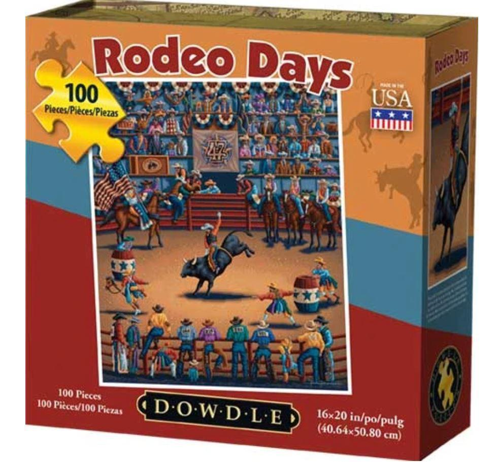 Rodeo Days 100 Piece Puzzle by Dowdle Folk Art