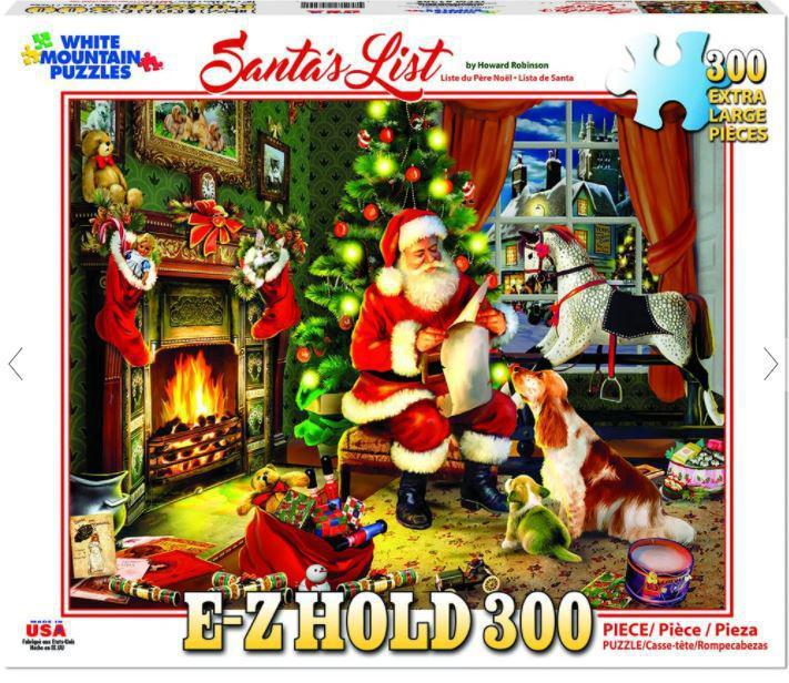Santa's List Christmas 300 Piece EZ_HOLD Jigsaw Puzzle by White Mountain Puzzle