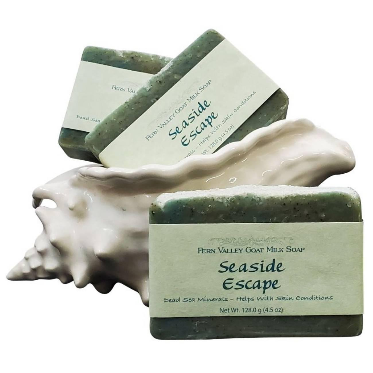 Fern Valley Goat Milk Soap Bars Seaside Escape (Dead Sea Mineral to help condition skin)