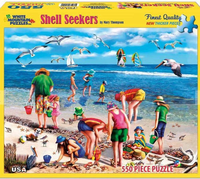 Shell Seekers 550 Piece Jigsaw Puzzle by White Mountain Puzzle